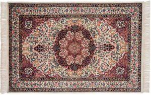 6x9 kerman ivory oriental rug 031997
