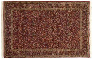 6×9 Kerman Oriental Red Hand-Knotted Rug