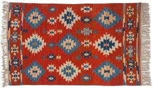 6×9 Kilim Oriental Red Kilim (Flatweave) Rug