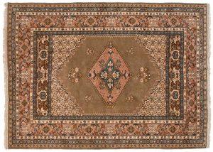 6×9 Vintage Kula Oriental Brown Hand-Knotted Rug