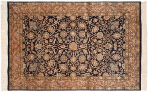 6×9 Meshed Oriental Blue Hand-Knotted Rug