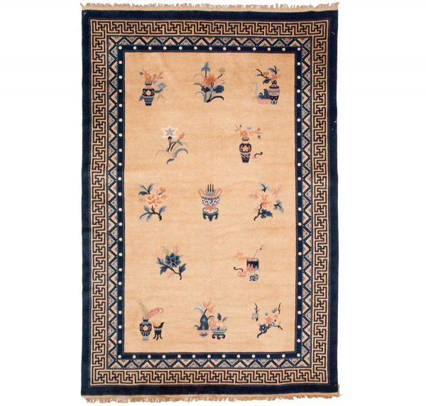 6x9 peking gold oriental rug 013624