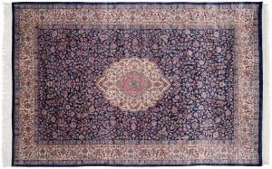 6×9 Vintage Persian Oriental Blue Hand-Knotted Rug