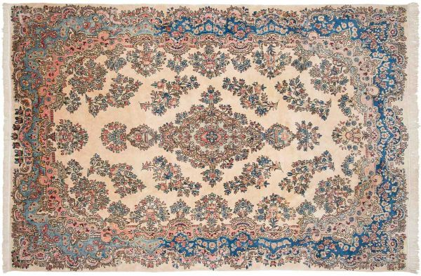 6x9 persian kerman ivory oriental rug 011175