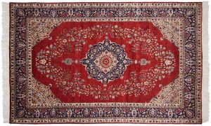 6×9 Vintage Persian Oriental Red Hand-Knotted Rug