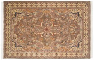 6×9 Polonaise Oriental Beige Hand-Knotted Rug