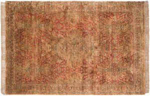 6×9 Vintage Polonaise Oriental Rust Hand-Knotted Rug