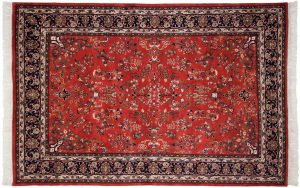 6×9 Vintage Sarouk Oriental Rust Hand-Knotted Rug