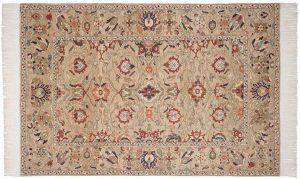 6×9 Sultanabad Oriental Beige Hand-Knotted Rug