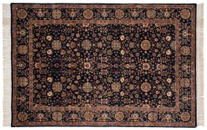 6×9 Sultanabad Oriental Blue Hand-Knotted Rug