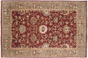6×9 Sultanabad Oriental Burgundy Hand-Knotted Rug