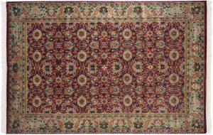 6×9 Vintage Sultanabad Oriental Burgundy Hand-Knotted Rug