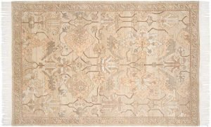 6×9 Sultanabad Oriental Gold Hand-Knotted Rug