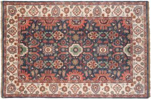6×9 Sultanabad Oriental Grey Hand-Knotted Rug