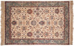 6×9 Sultanabad Oriental Ivory Hand-Knotted Rug