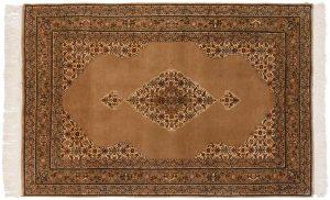 6×9 Vintage Tabriz Oriental Beige Hand-Knotted Rug