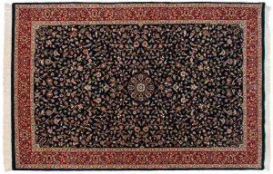 6×9 Vintage Tabriz Oriental Blue Hand-Knotted Rug