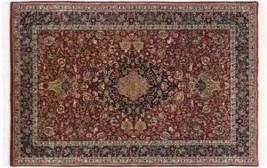 6×9 Vintage Tabriz Oriental Red Hand-Knotted Rug