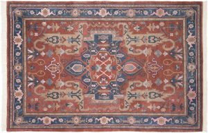 6×9 Oushak Oriental Rust Hand-Knotted Rug