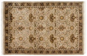 6×9 William Morris Oriental Beige Hand-Knotted Rug