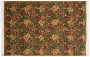 6×9 Vintage William Morris Oriental Gold Hand-Knotted Rug